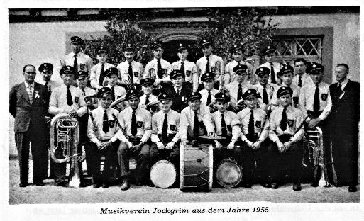 Musikverein Jockgrim im Jahre 1955