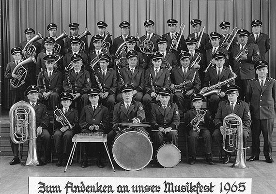 Musikverein Jockgrim im Jahre 1965