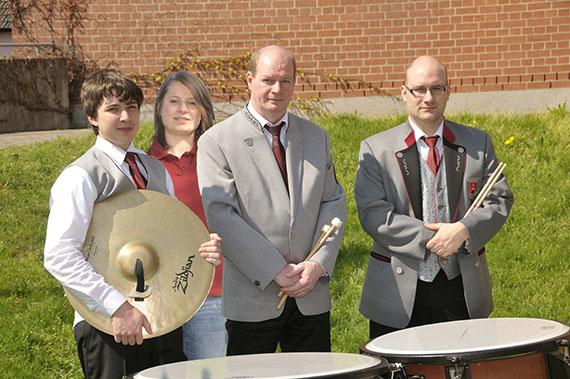 v. l.: Jonas Bender, Kathrin Schneider, Jürgen Strentzsch und Roman Christof